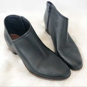 Lucky Brand Brekke Black Leather Booties Boots 11